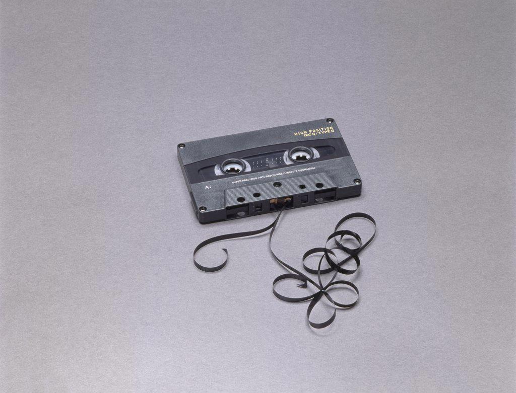 Broken cassette tape : Stock Photo