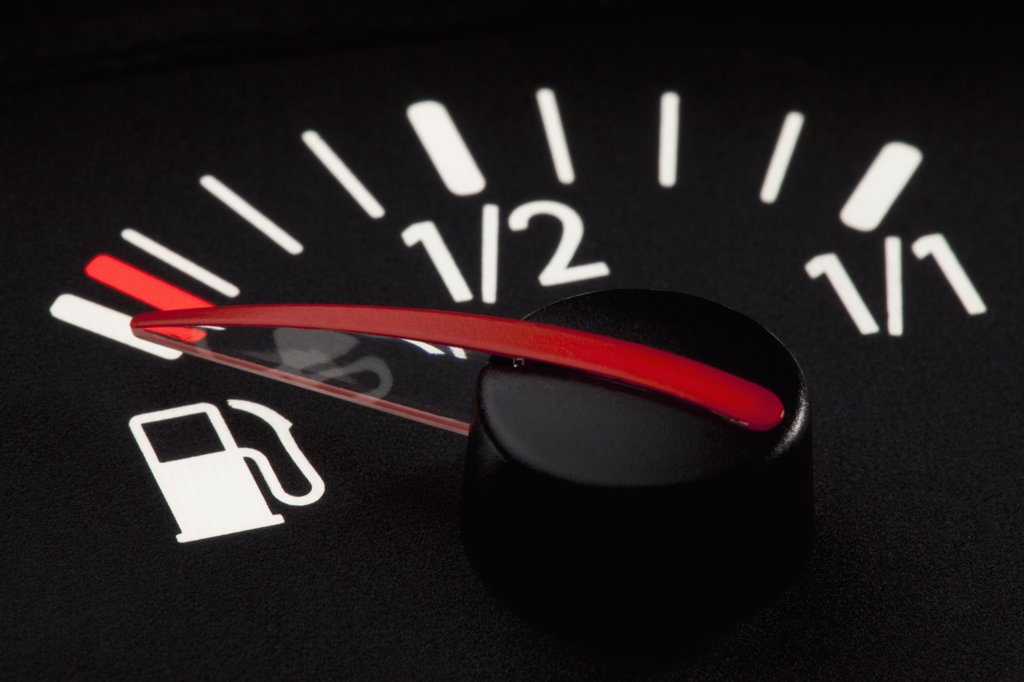 Stock Photo: 1570R-131828 Detail of a fuel gauge