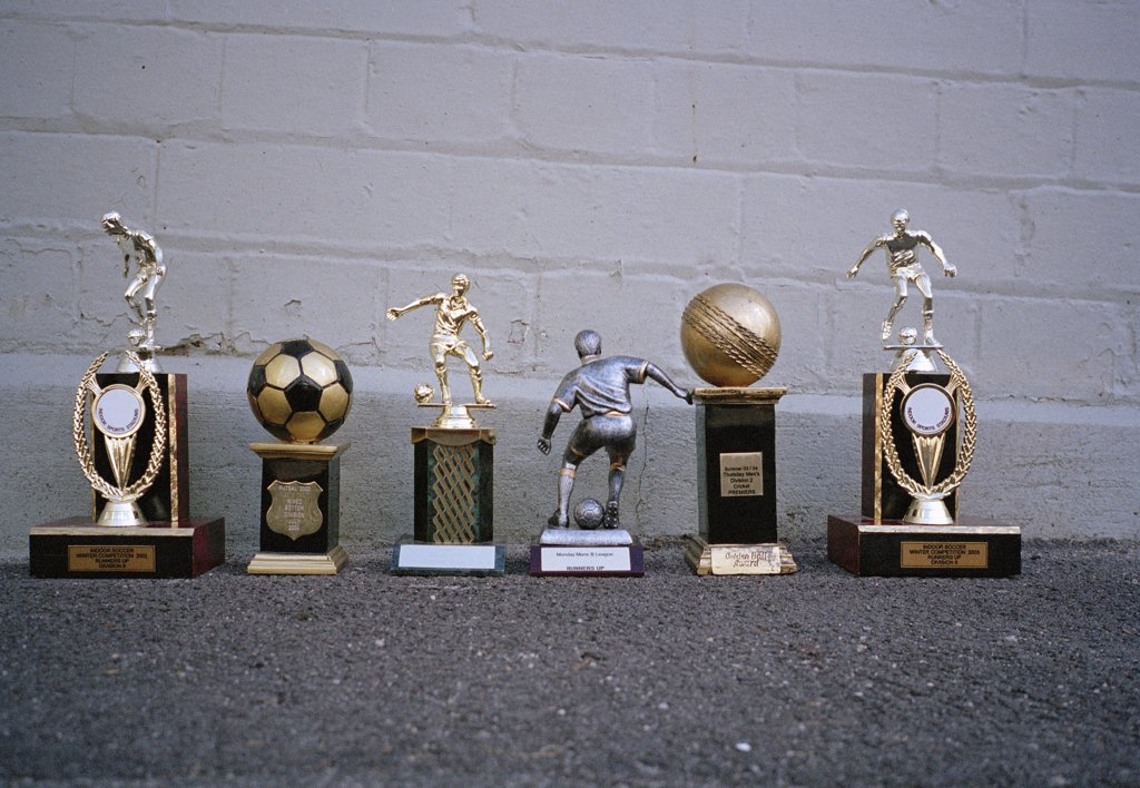 Various sports trophies : Stock Photo