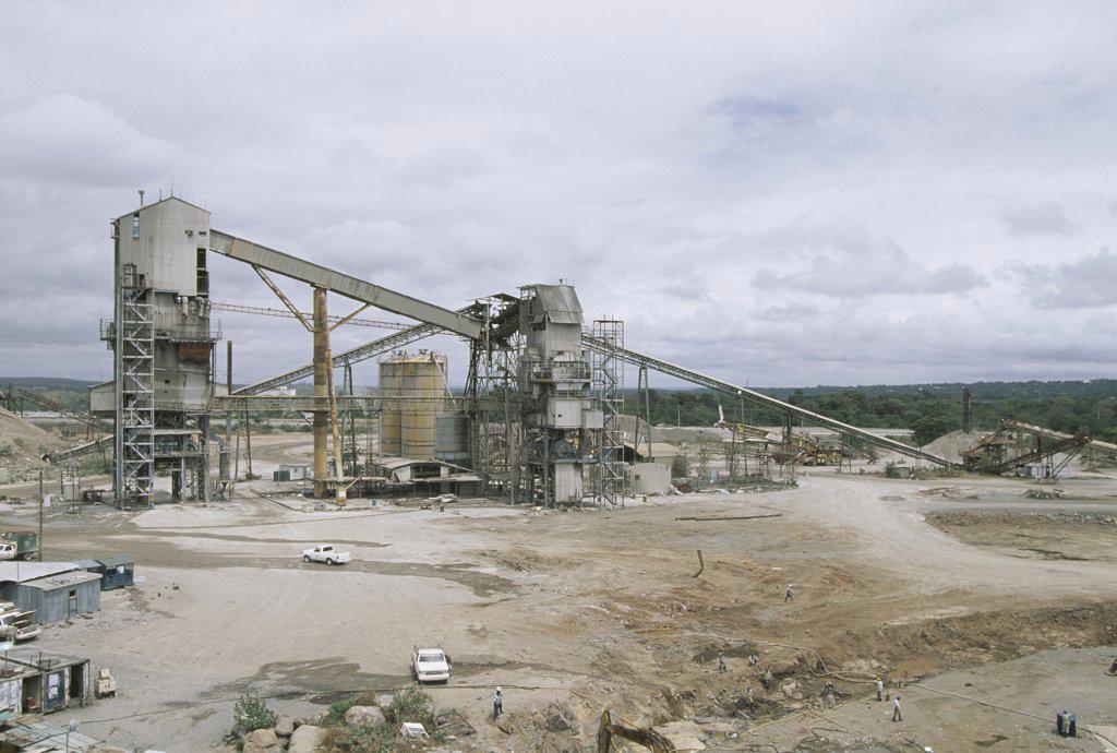 Aluminum mill, Puerto Ordaz, Venezuela : Stock Photo