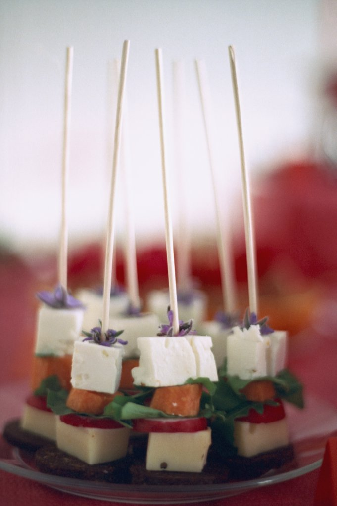 Stock Photo: 1570R-132185 Various foods on skewers