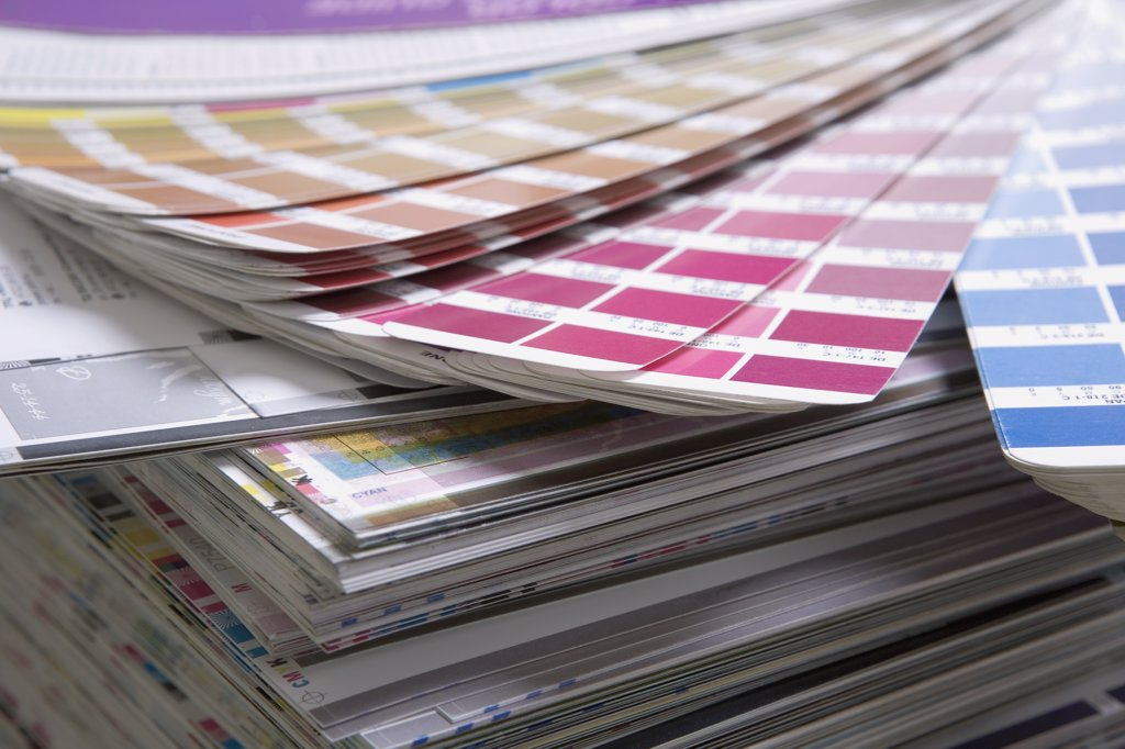 Color charts and printing samples : Stock Photo