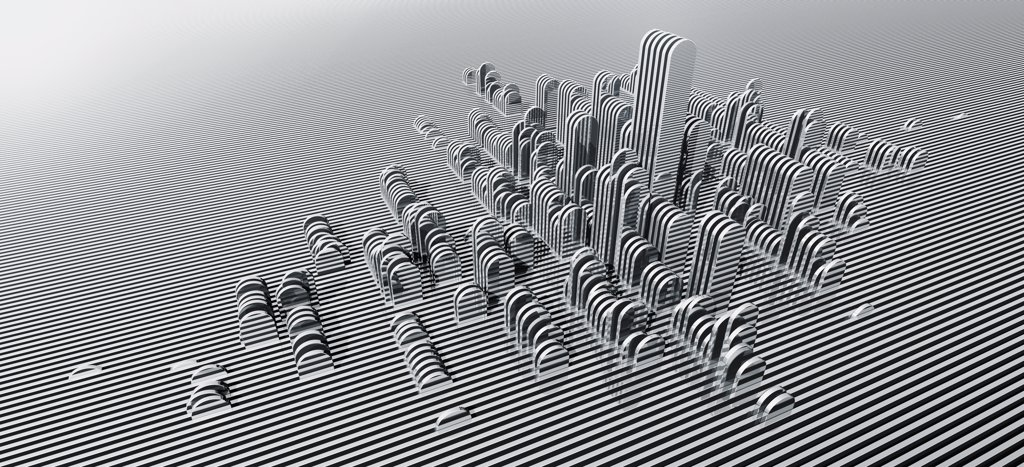 Stock Photo: 1570R-132850 Abstract silver panorama