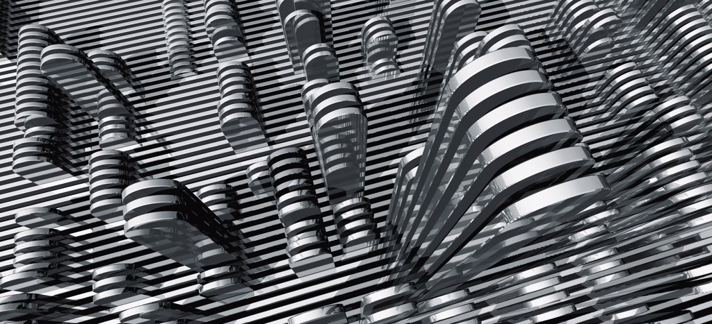 Silver abstract pattern : Stock Photo