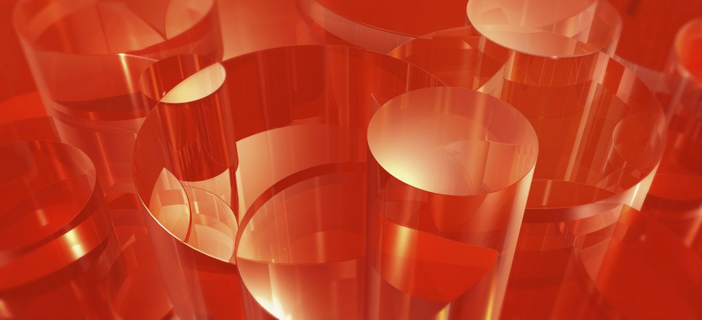 Stock Photo: 1570R-132864 Red abstract shapes