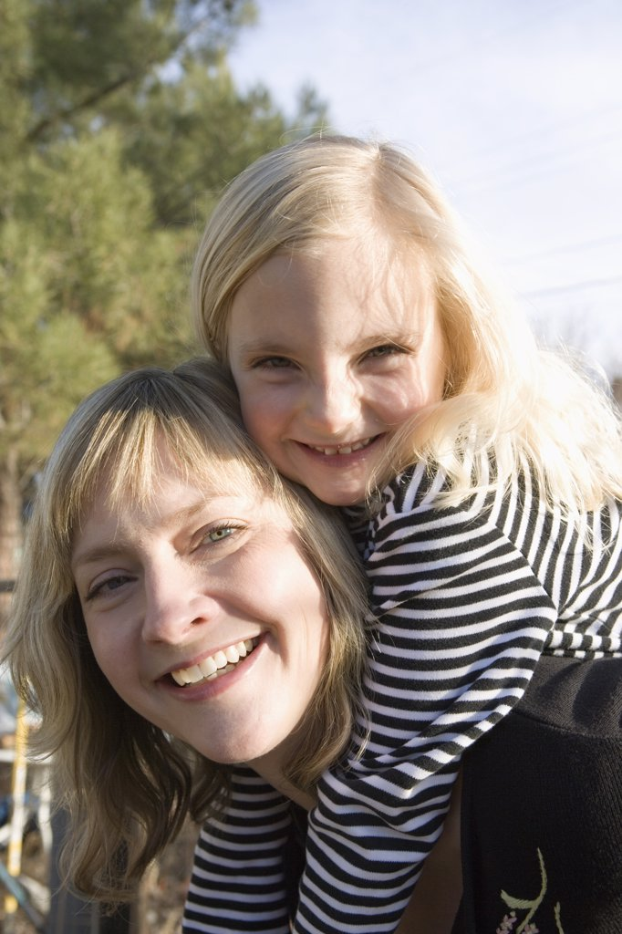 Stock Photo: 1570R-133736 Portrait of a mother and daughter