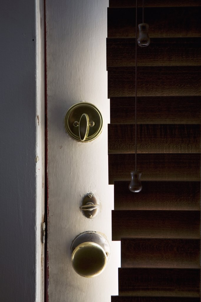 Doorknob and lock : Stock Photo