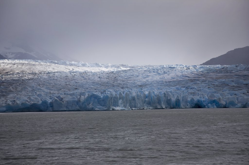 Detail of a glacier, Torres del Paine National Park, Chile : Stock Photo