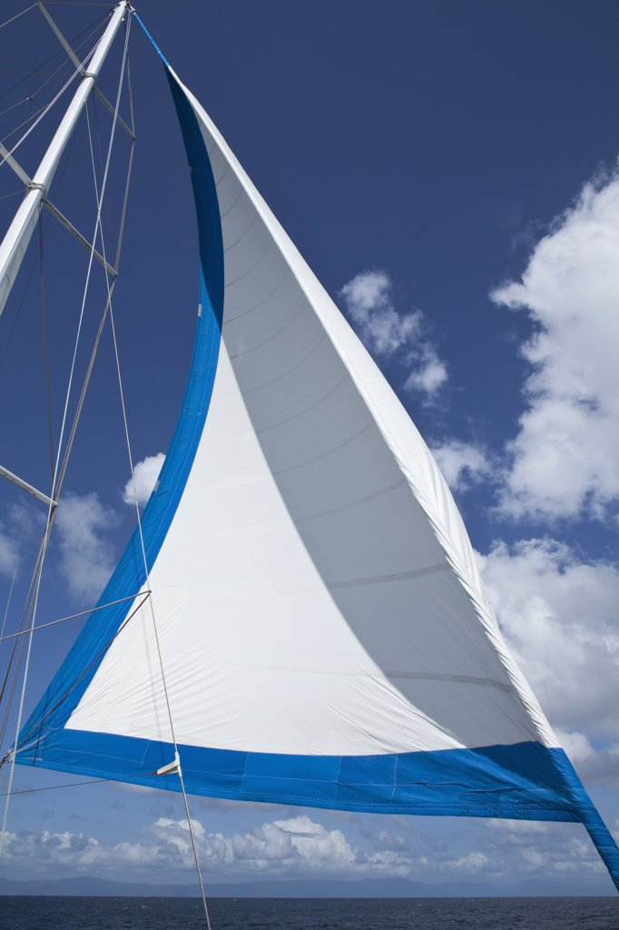 Sail and mast of a yacht : Stock Photo