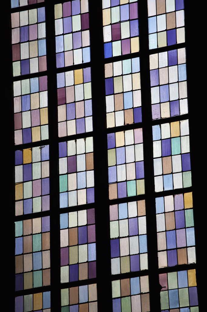 Stock Photo: 1570R-138082 A stained glass window, full frame