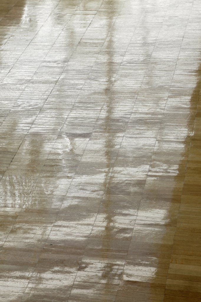 Patterns on a hardwood floor : Stock Photo