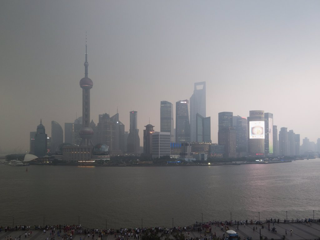 Stock Photo: 1570R-139673 Shanghai skyline at dusk