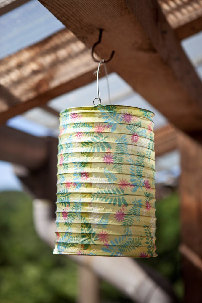 A paper lantern hanging : Stock Photo