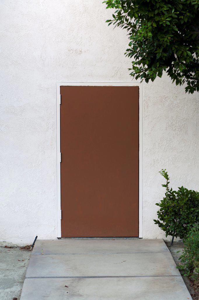 Stock Photo: 1570R-140653 A plain brown door