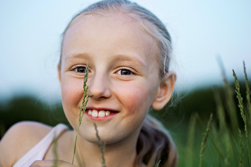 Stock Photo: 1570R-141059 Portrait of a girl smiling