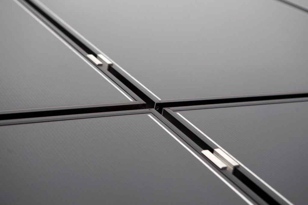 Thin film solar modules : Stock Photo