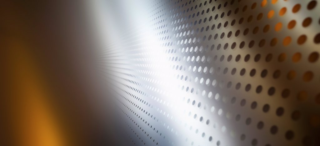 Diminishing dot pattern and colored light : Stock Photo