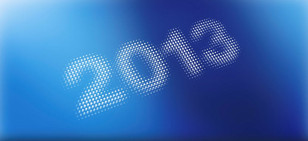 Stock Photo: 1570R-141395 2013 on a blue abstract background
