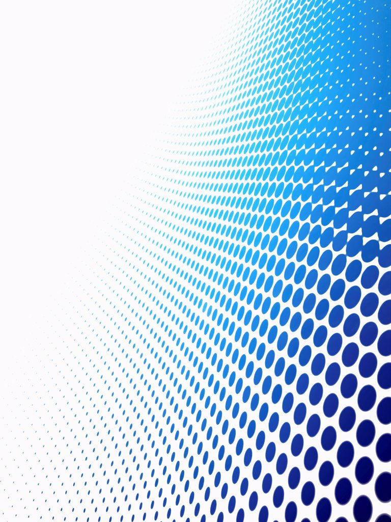 Diminishing dot pattern against a white background : Stock Photo