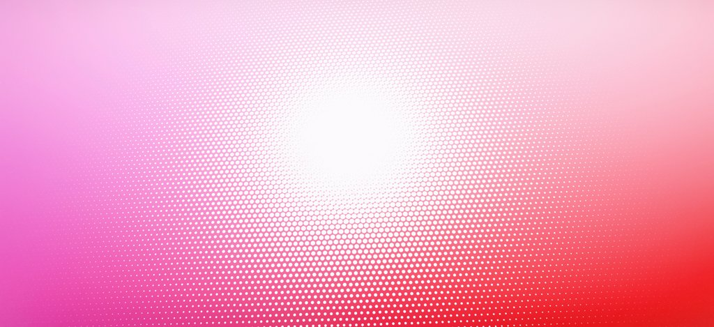 Large white spot and a diminishing dot pattern against an abstract background : Stock Photo