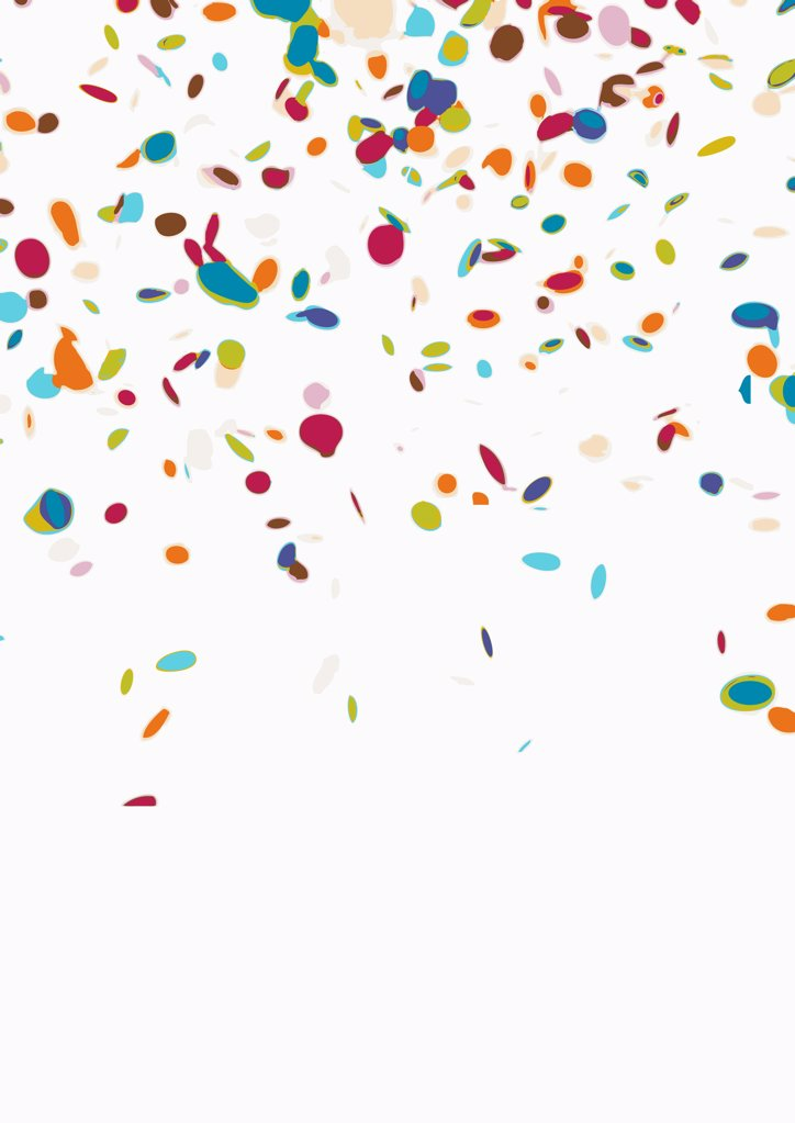 Confetti on a white background : Stock Photo