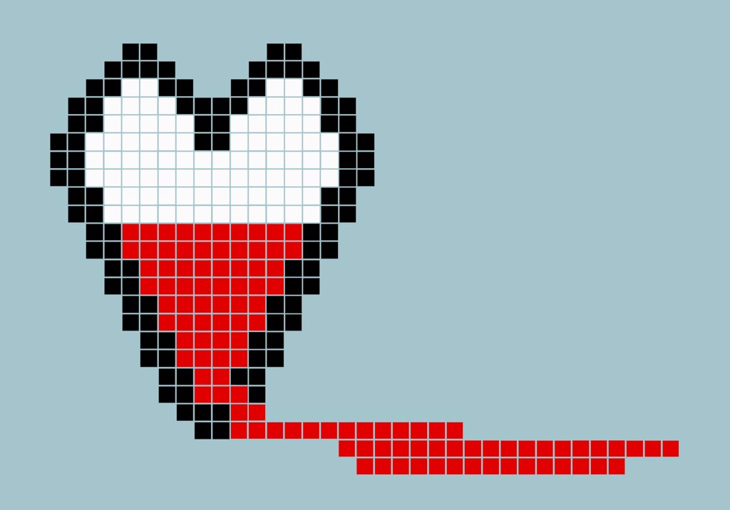 Stock Photo: 1570R-141504 8-bit style bleeding heart