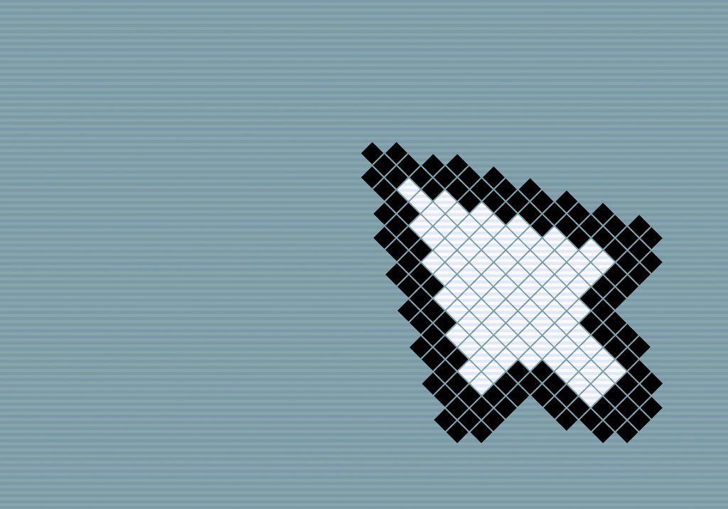 8-bit style cursor arrow : Stock Photo
