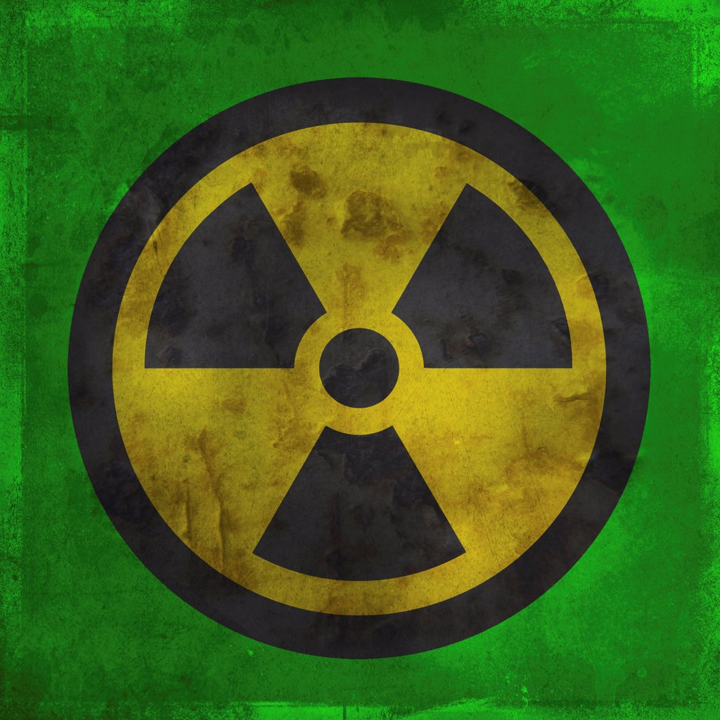 Stock Photo: 1570R-141515 Nuclear warning symbol