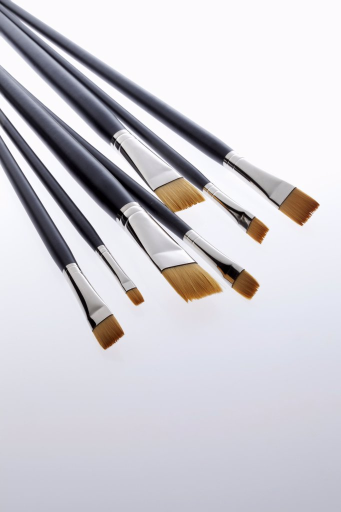 Various sized artist's paintbrushes : Stock Photo