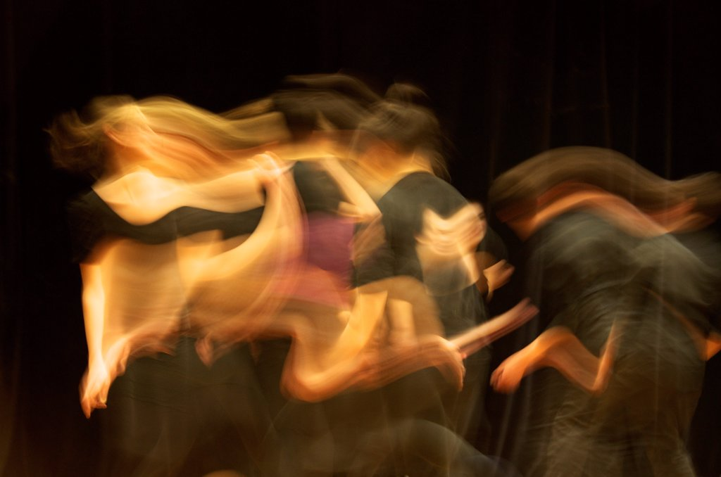 Several female dancers performing : Stock Photo