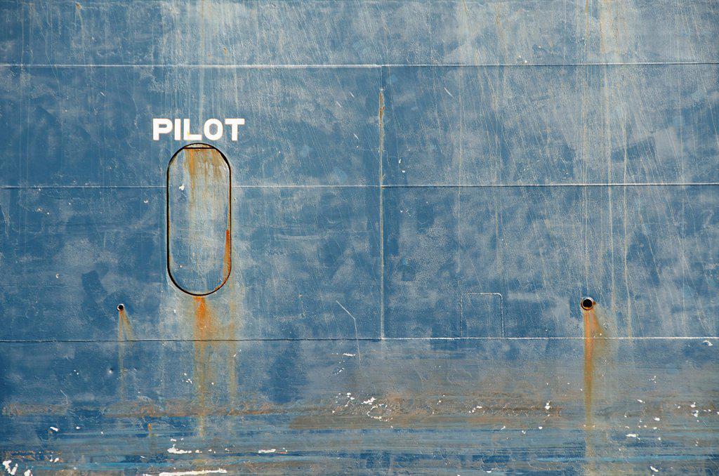 Hull of tanker ship : Stock Photo