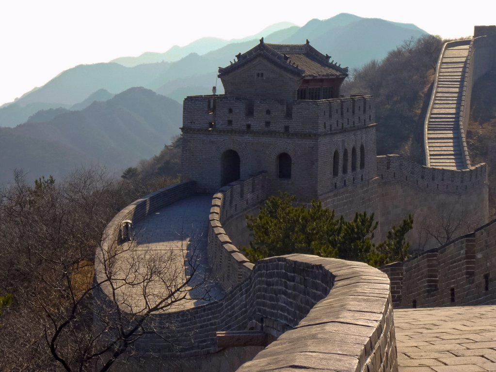 Stock Photo: 1570R-141814 The Great Wall of China, Badaling Pass, outside of Bejing, China