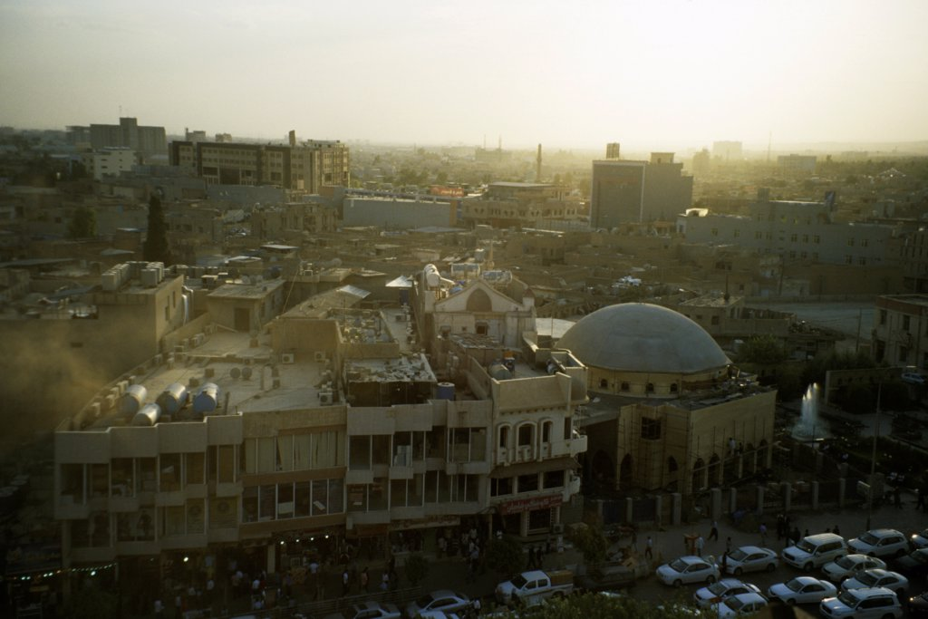 Cityscape of Arbil, Iraqi Kurdistan, Iraq : Stock Photo
