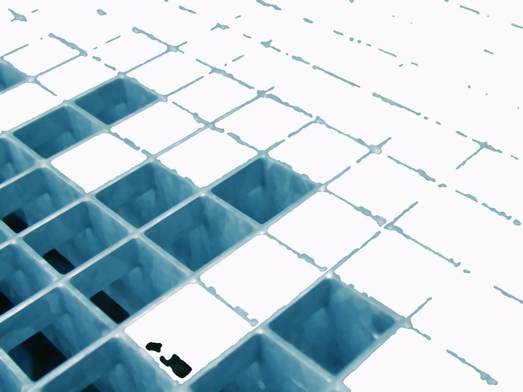 Stock Photo: 1570R-4017 abstract image of empty and filled blocks