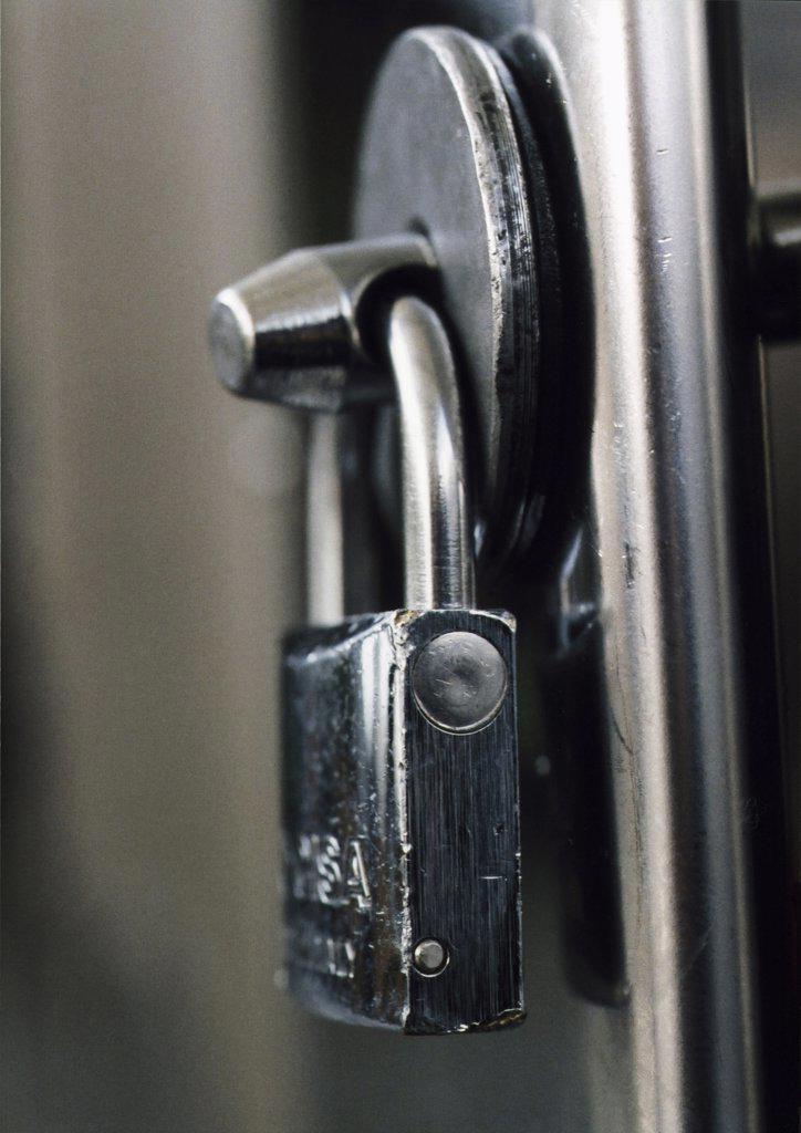industrial steel lock : Stock Photo