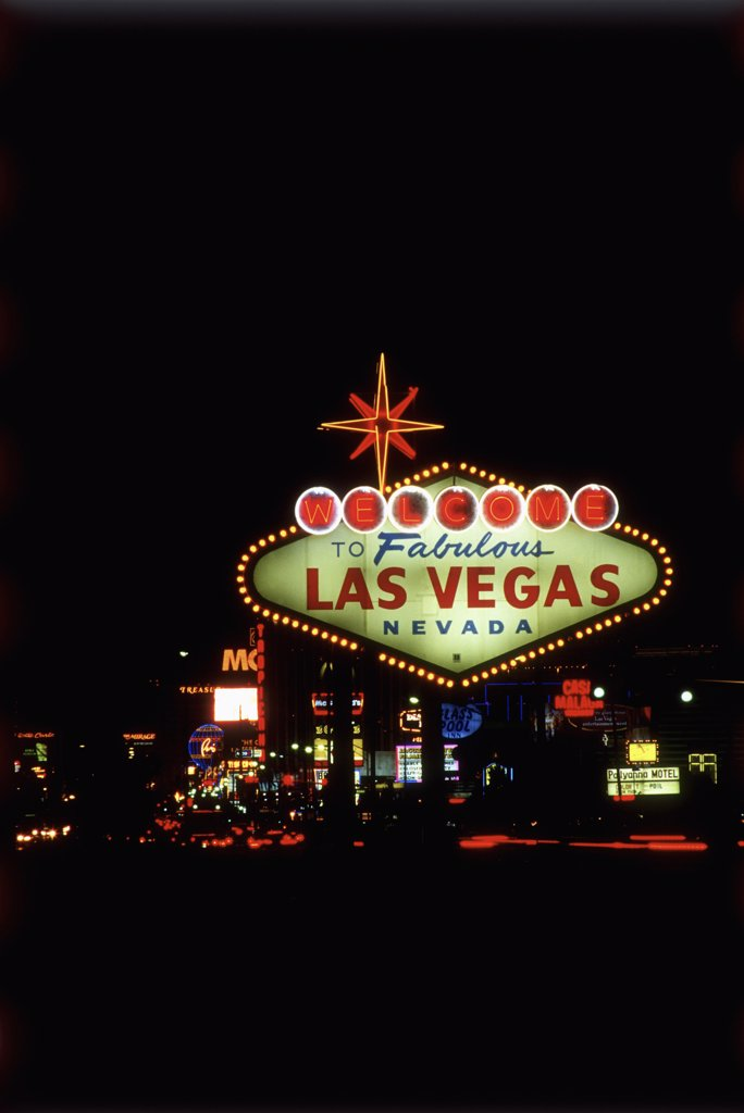 Stock Photo: 1570R-50001 Welcome to Las Vegas sign