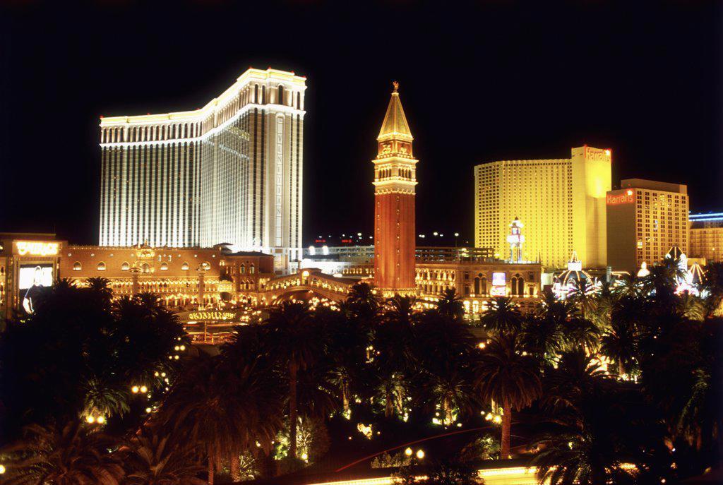 Las Vegas, Nevada, USA, Las Vegas casinos at night : Stock Photo