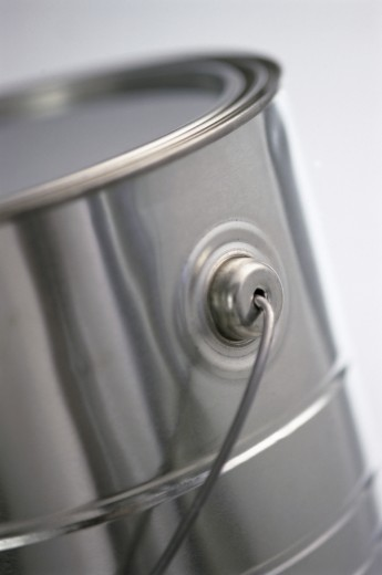 Close-up of a can of paint : Stock Photo