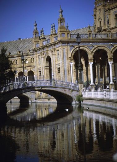 Stock Photo: 1574R-010624 Plaza de Espana