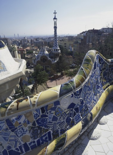 Stock Photo: 1574R-010627 Guell Park