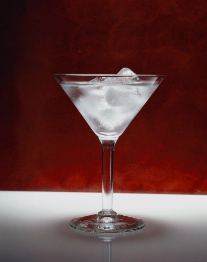 Martini with ice : Stock Photo