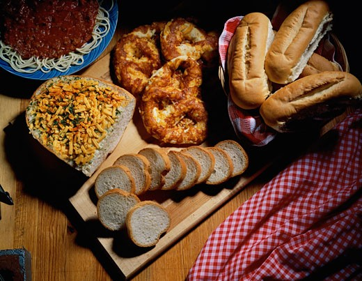 Close-up of assorted breads : Stock Photo