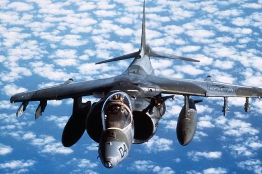 Stock Photo: 1574R-011265 U.S. Marine Corps Harrier Jump Jet