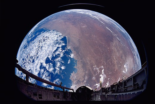 Payload Bay View of Australia