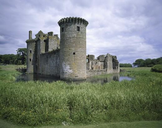 Caerlaverock Castle Near Dumfries Scotland : Stock Photo