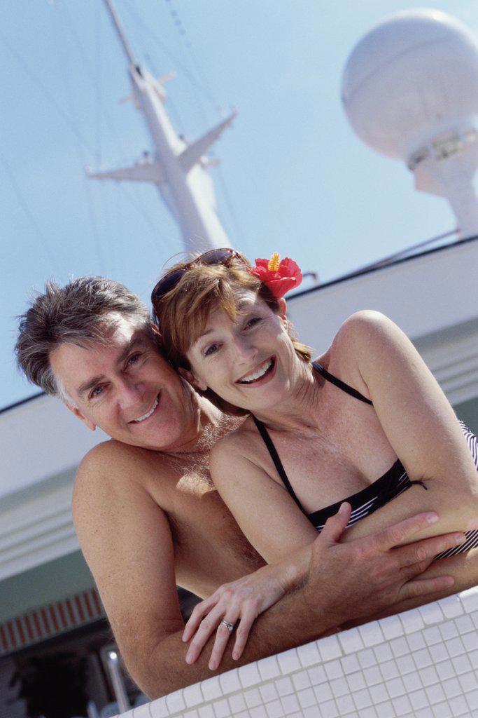 Portrait of a mature couple smiling : Stock Photo