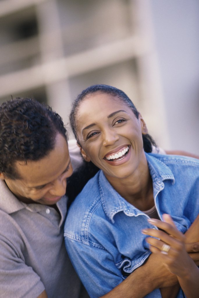 Stock Photo: 1574R-014156 Close-up of a mature couple laughing