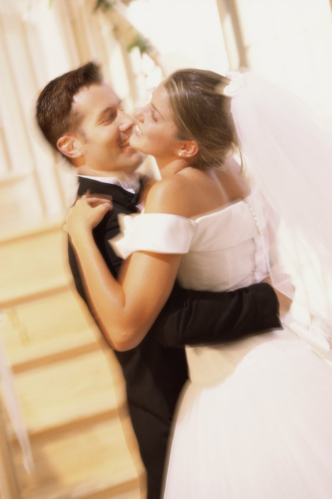 Stock Photo: 1574R-014648 Newlywed couple dancing