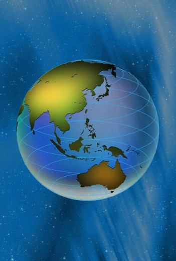 Stock Photo: 1574R-015686 Illustration of a globe