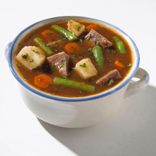 Stock Photo: 1574R-016076 Beef and Vegetables Soup